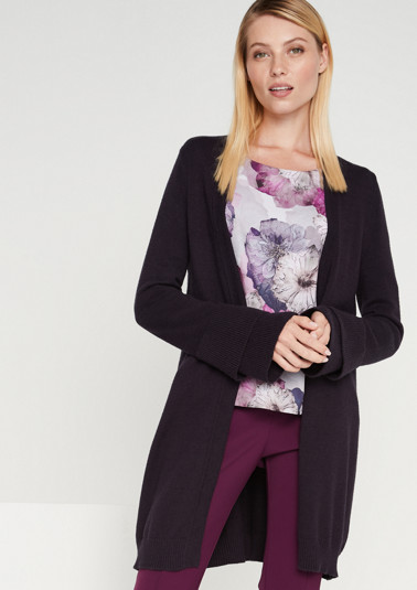 Soft cardigan with long sleeves from comma
