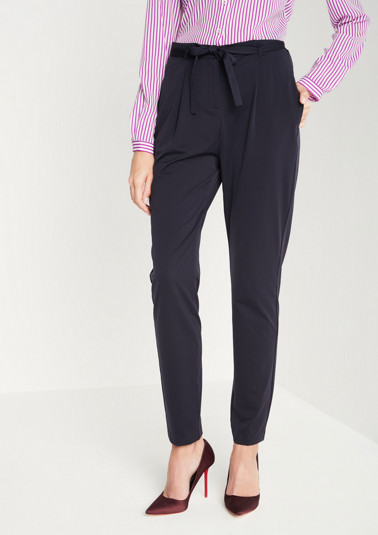 Elegant business trousers with a belt from comma