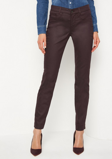 Slim, coated jeans from comma
