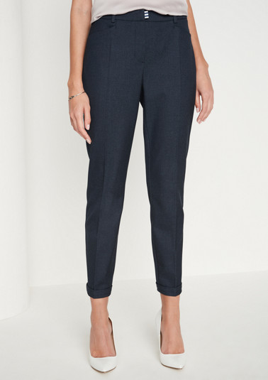 Elegant 7/8-length business trousers from comma