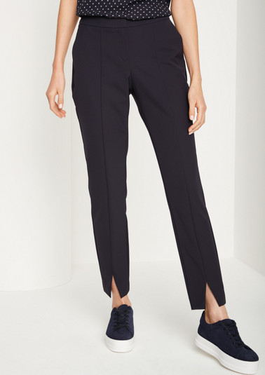Business trousers with exciting details from comma