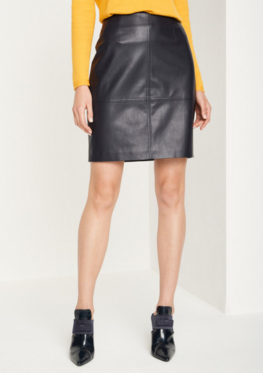 Faux leather business skirt from comma