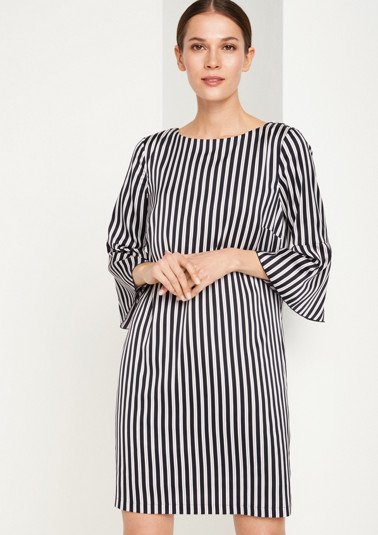 Elegant satin dress in a striped design from comma