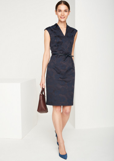 Chic sheath dress with an elegant jacquard pattern from comma