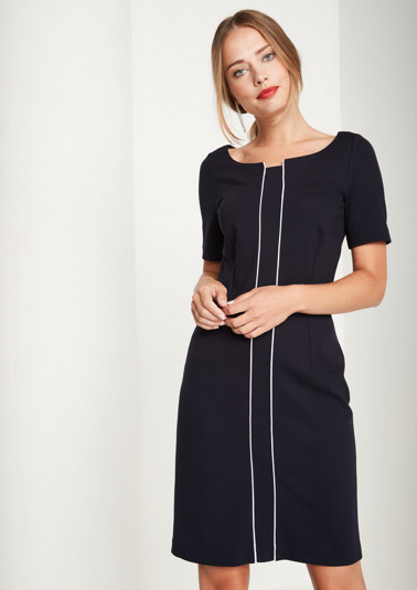 Elegant jersey dress with short sleeves from comma