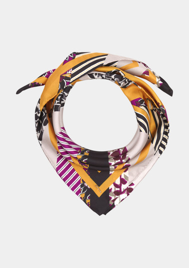 Silk scarf with a decorative pattern from comma