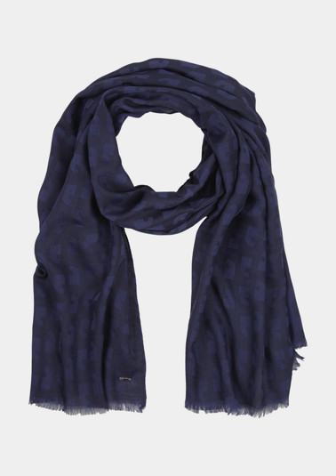 Scarf with a tonal jacquard pattern from comma