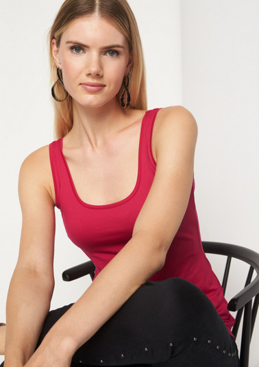 Casual jersey tank top from comma