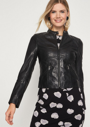 Elegant lambskin leather jacket from comma
