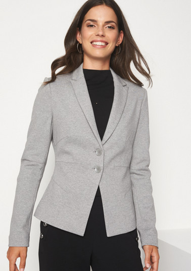 Jersey business blazer with decorative darts from comma