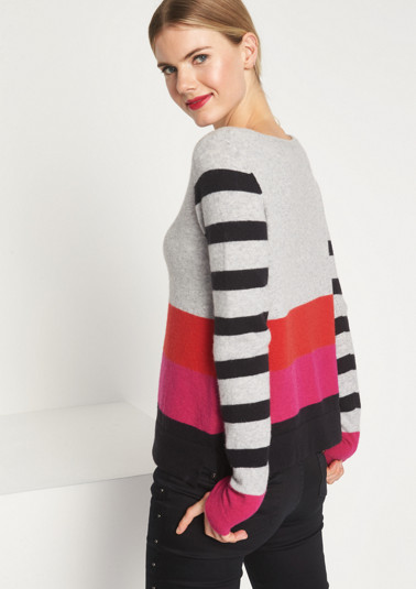 Cosy mixed pattern knit jumper from comma