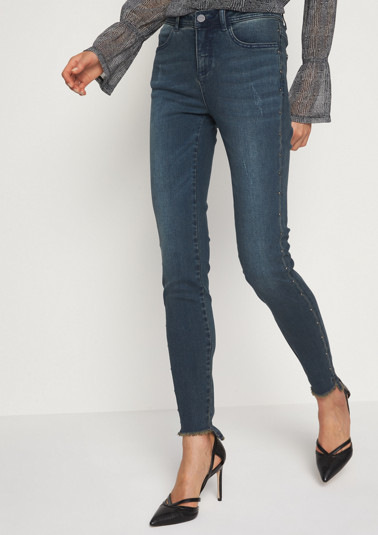 Lightweight jeans with glittering stud embellishment from comma