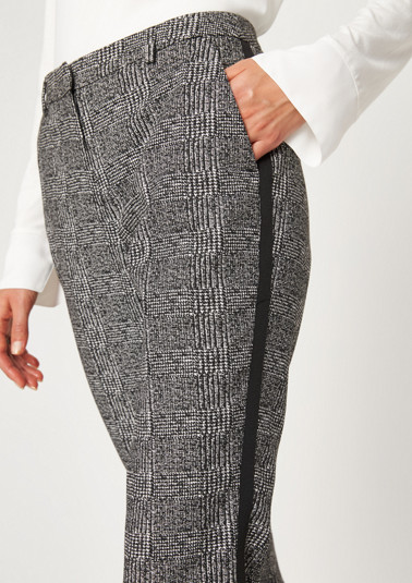 Business trousers with an abstract check pattern from comma