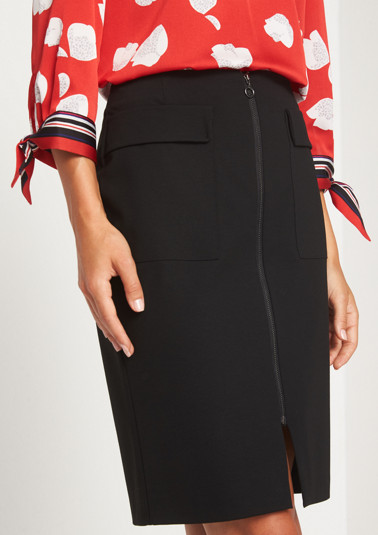 Pencil skirt with patch pockets from comma