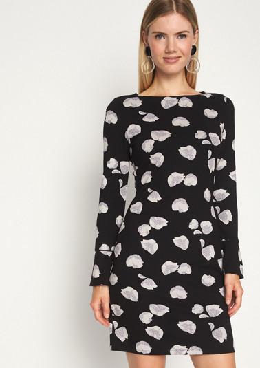 Jerseykleid mit liebevoll gestaltetem Allovermuster