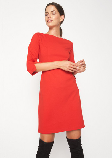 Jersey shift dress with 3/4-length sleeves from comma