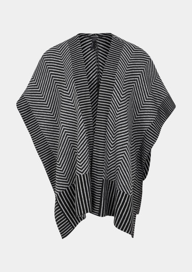 Knit cape with a fine pattern from comma