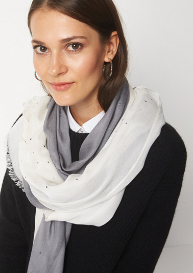 Lightweight scarf with stud embellishment from comma