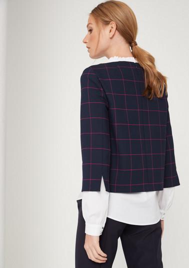 3/4-Arm Sweater im Karolook