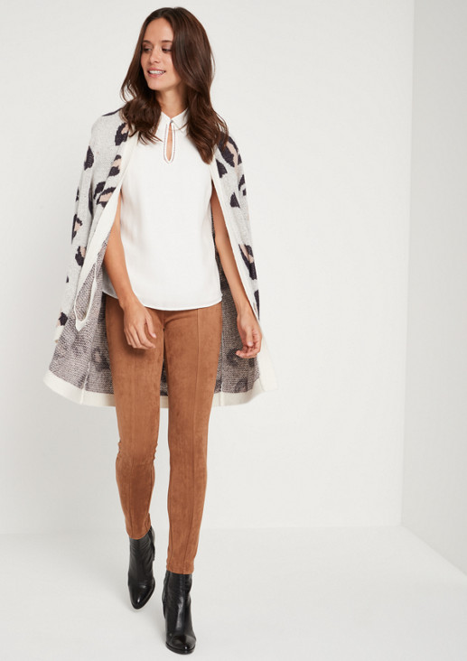 Elegant blouse top with an open-work pattern from comma