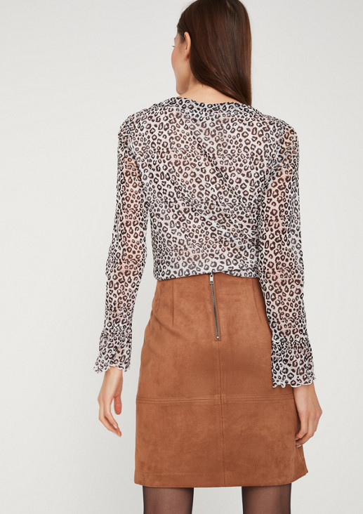 Delicate mesh top with an all-over print from comma