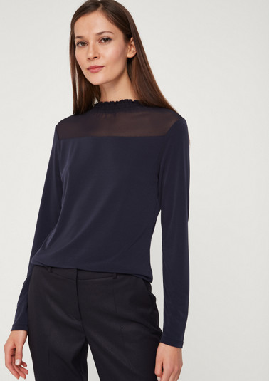 Long sleeve top in a mix of materials from comma