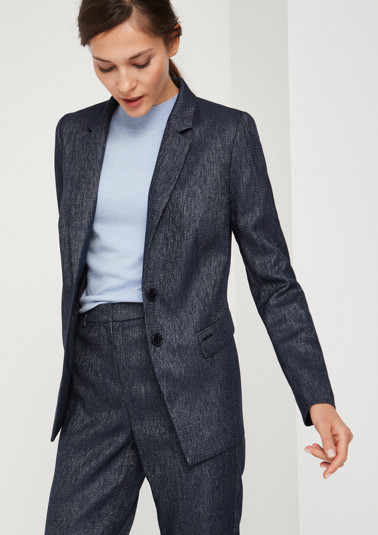 Business blazer with smart details and a matte sheen from comma