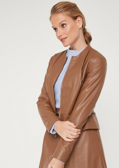 Soft jacket in faux leather from comma