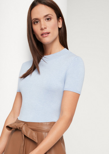 Lightweight knit jumper with short sleeves from comma