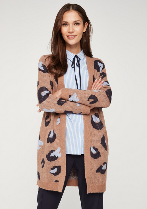Long cardigan with a beautiful all-over pattern from comma