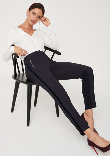 Elegant business trousers with zip pockets from comma