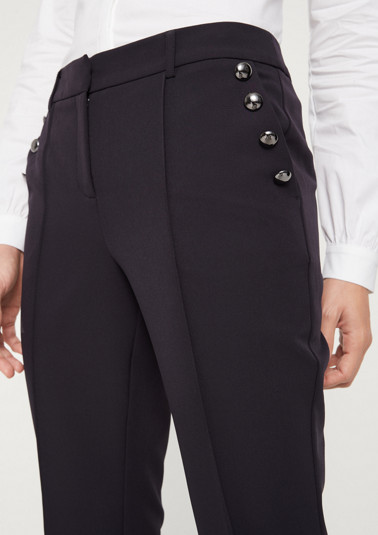 Elegant business trousers with decorative buttons from comma