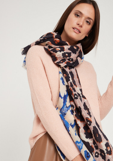 Delicate pattern mix scarf from comma