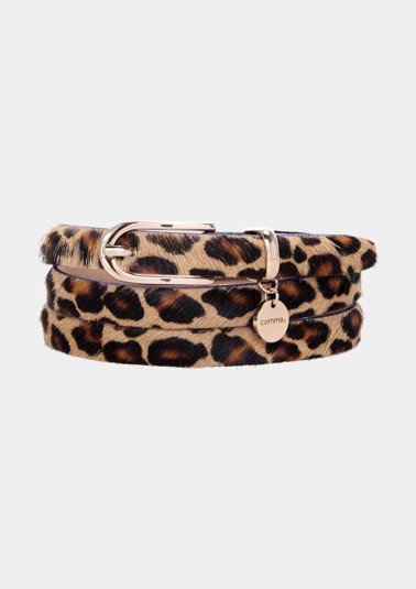 Thin belt with an animal print from comma