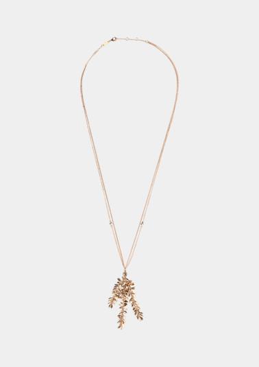 Doppelt gelegte Halskette mit Anhänger