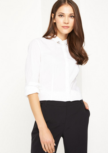 Business blouse with changeable collars from comma