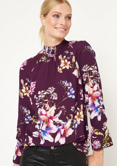 Long sleeve blouse with an all-over floral print from comma