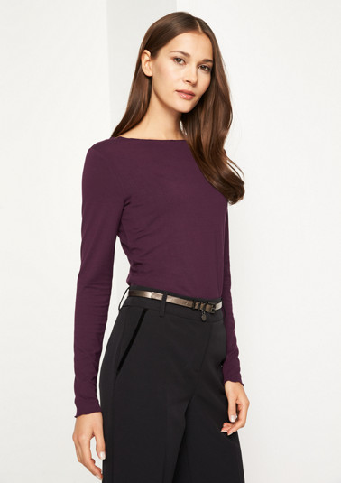 Long sleeve jersey top with smart details from comma