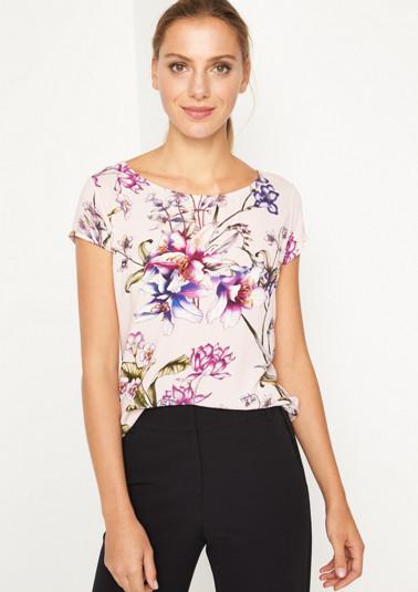 Jersey-Kurzarmshirt mit Floralmuster