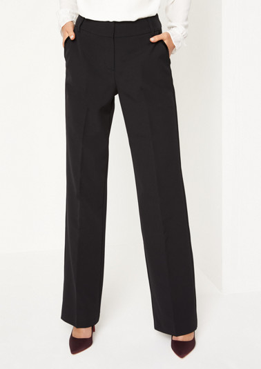 Business trousers embellished with fine velvet from comma