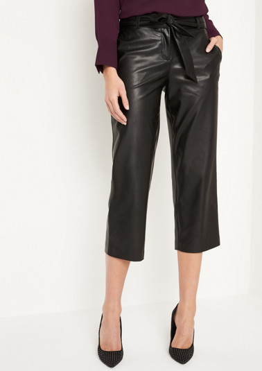 Extravagant faux leather trousers with a 7/8 leg from comma