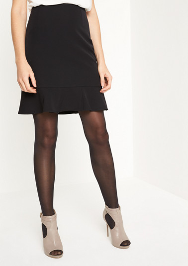 Short business skirt with sophisticated details from comma