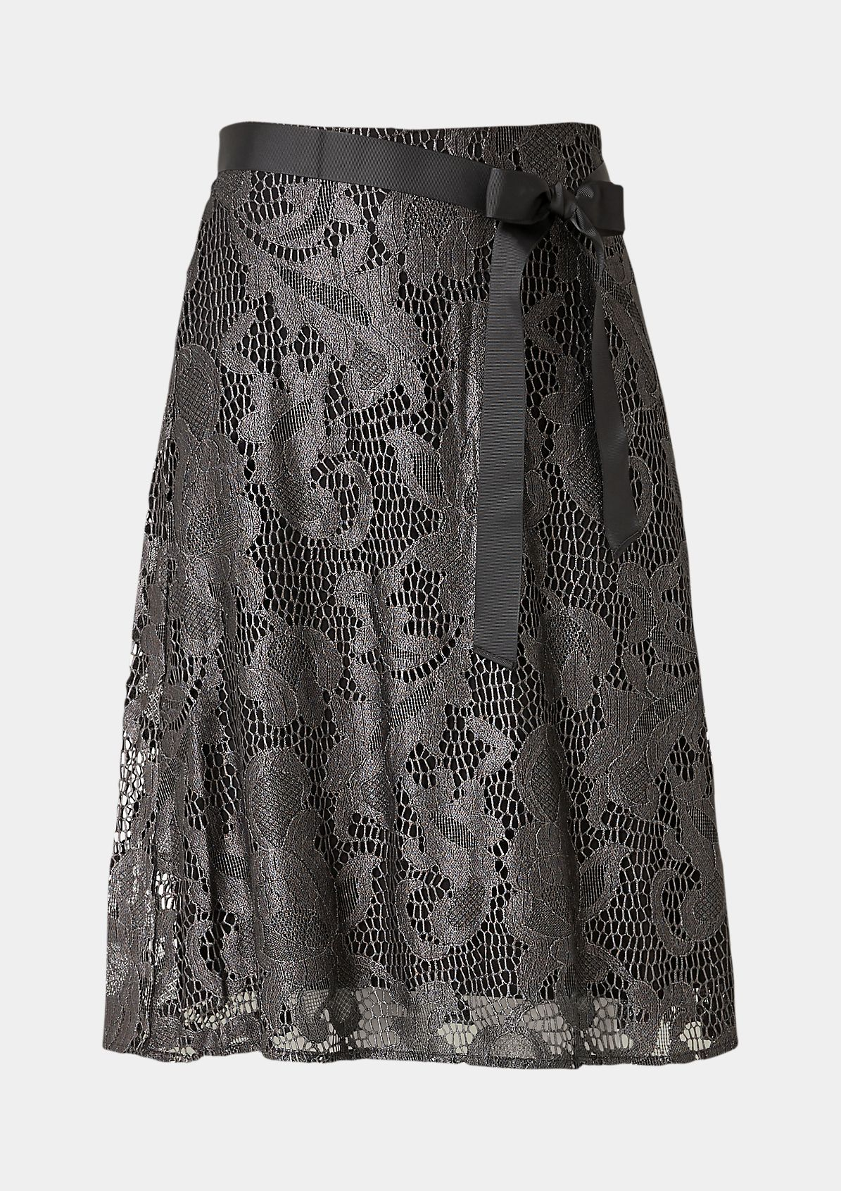 Business skirt made of delicate lace from comma
