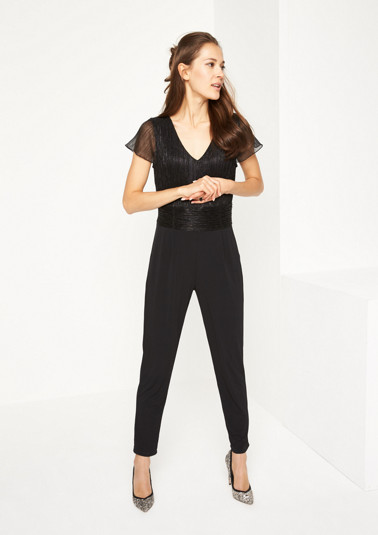 Business jumpsuit with glitter thread from comma