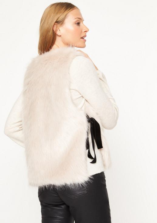 Weste aus kuscheligem Fake-Fur