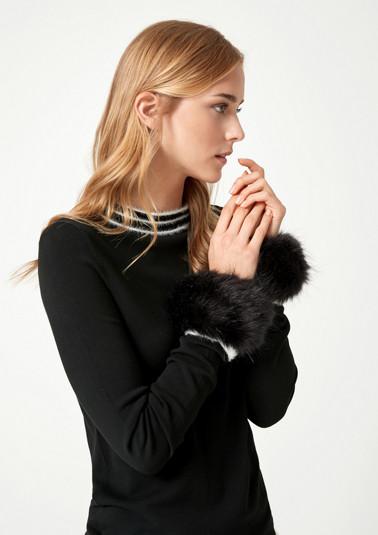 Pulswärmer aus flauschigem Fake-Fur