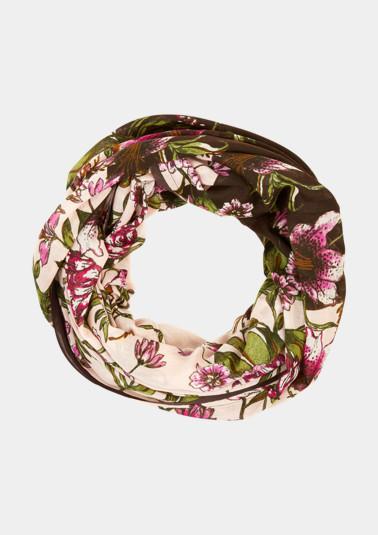 Leichter Loopschal mit Floral-Alloverprint