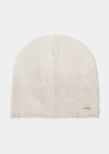 Soft knit hat with glitter yarn from comma