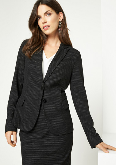 Lightweight business blazer with a minimal pattern from comma