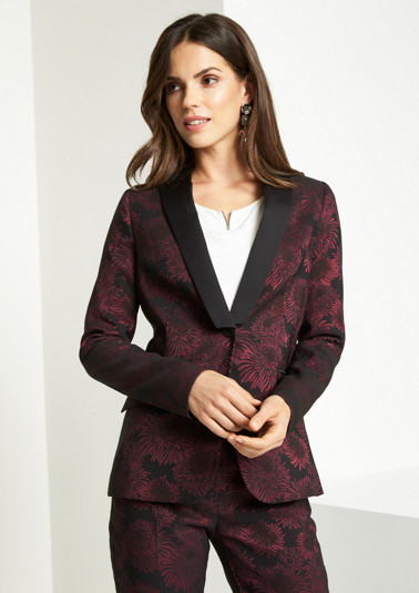 Blazer business à motif jacquard original de Comma